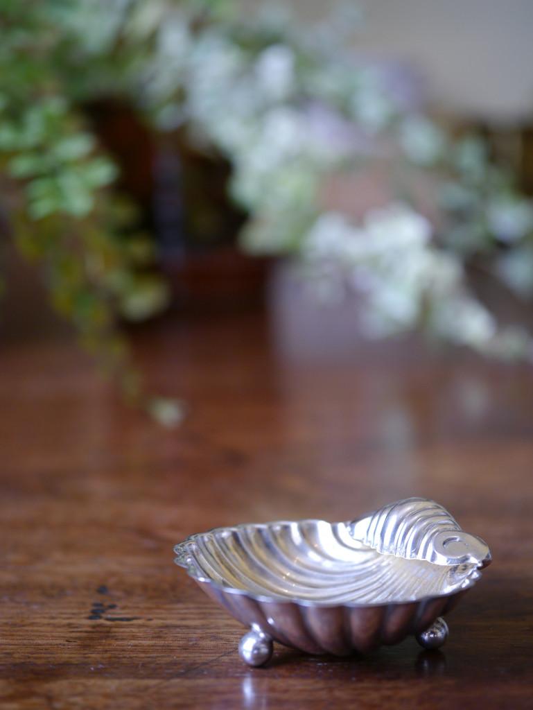 アンティーク  シルバー  貝 小皿 シェル