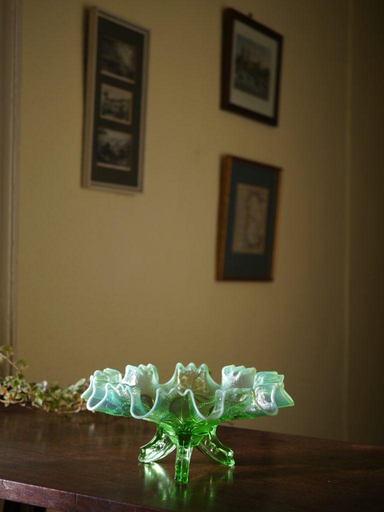 アンティーク ウランガラス 皿