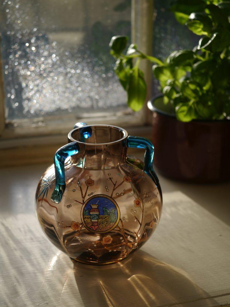 アンティーク モーゼルガラス