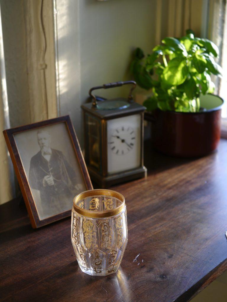 アンティーク  ボヘミアガラス カップ
