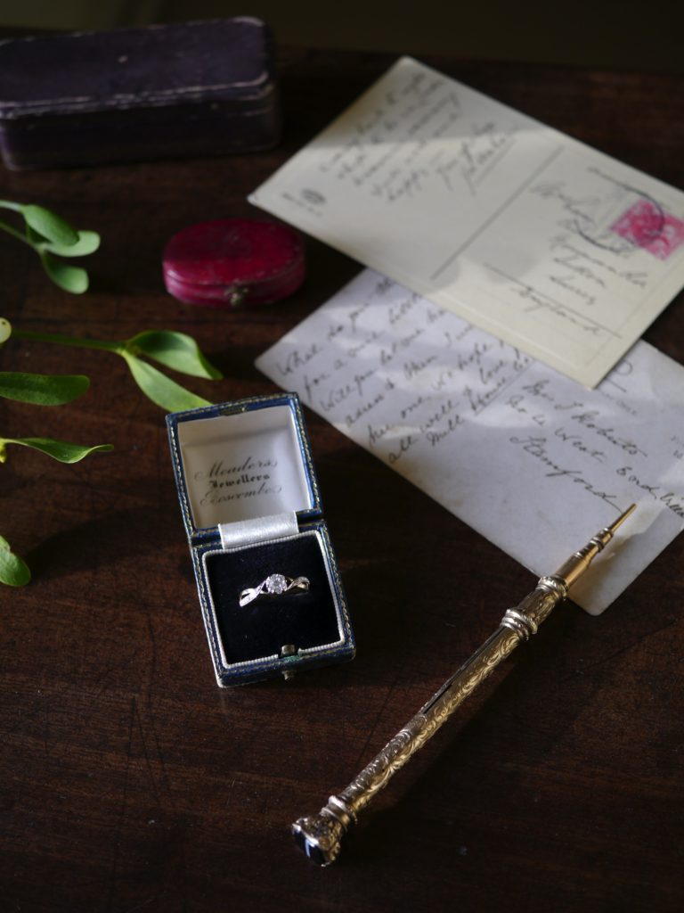 ビンテージ ダイヤモンド 金 指輪