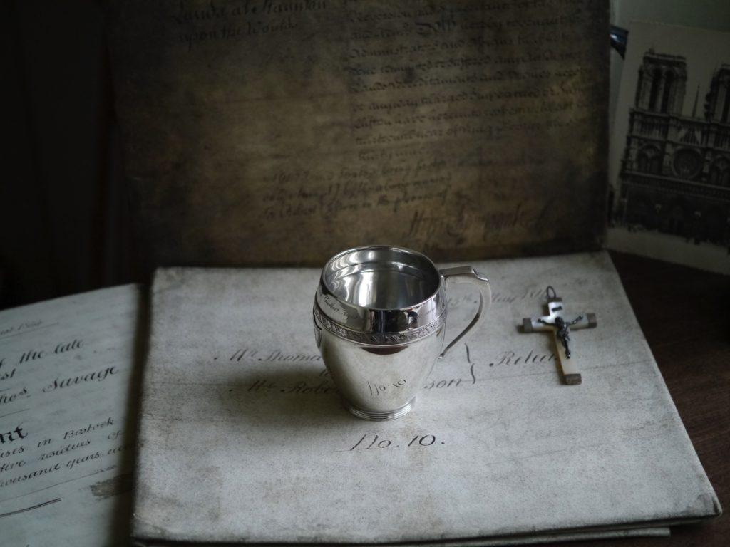 アンティーク シルバー クリスニングカップ