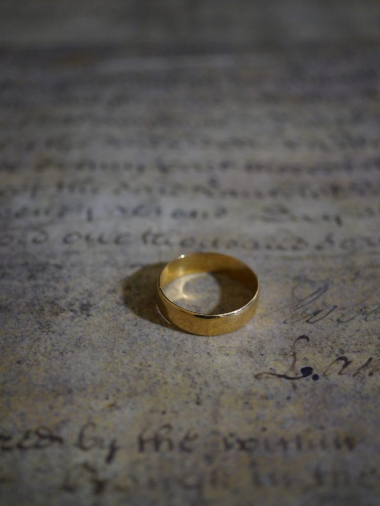 アンティーク 結婚指輪 ウェディングリング