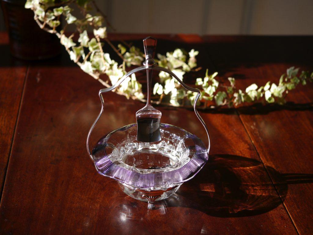 アンティーク ジャムディッシュ ガラス
